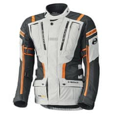 Held letní enduro moto bunda HAKUNA 2 šedá/oranžová (voděodolná úprava), textilní