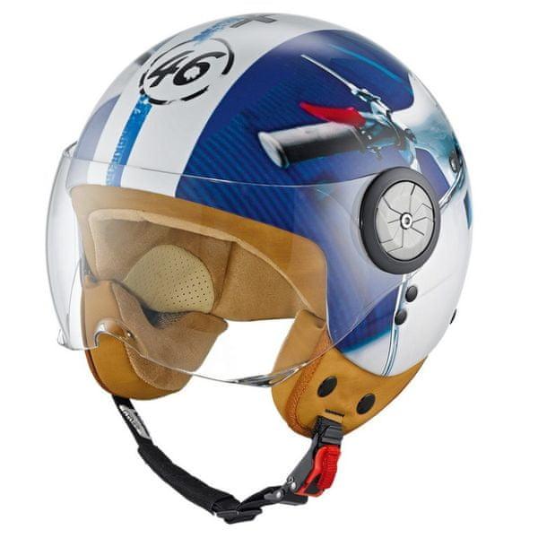 Held otevřená motocyklová retro přilba McCORRY 3D design Vespa vel.L (59-60cm)