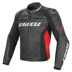 Dainese pánská kožená bunda na motorku RACING D1 PELLE černá/červená