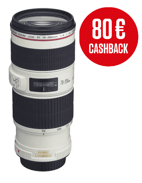 Canon 70-200 mm EF f/4,0 L IS USM + 2700 Kč od Canonu zpět!