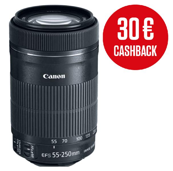 Canon 55-250mm EF-S f/4-5.6 IS STM + 800 Kč od Canonu zpět!
