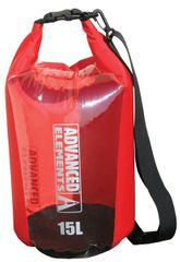Advanced Elements vreča Roll Top Dry Bag, 15 L, rdeče-črna