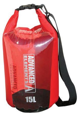 Advanced Elements vreča Roll Top Dry Bag, 15 L, rdeče-črna