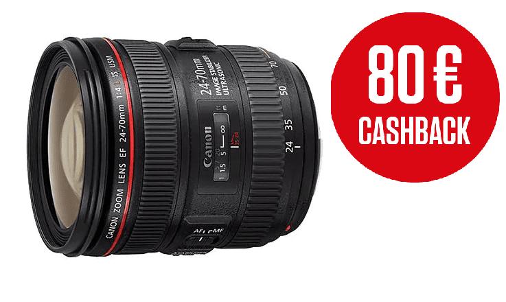 Canon EF 24-70mm f/4L IS USM + 5500 Kč od Canonu zpět!