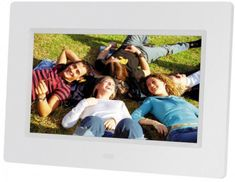 Braun Phototechnik digitalni foto zaslon DigiFrame LED 709, bel