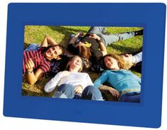 Braun Phototechnik digitalni foto zaslon DigiFrame LED 709, moder