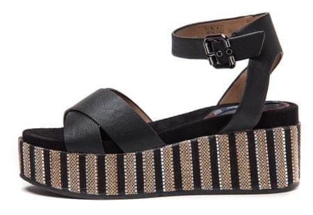 Wrangler ženski sandali Tempura Straw Cross 40 črna