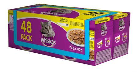 Whiskas perutnina v želeju 4 x ( 12 x 100g)