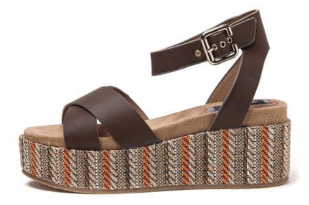 Wrangler ženski sandali Tempura Straw Cross 36 rjava