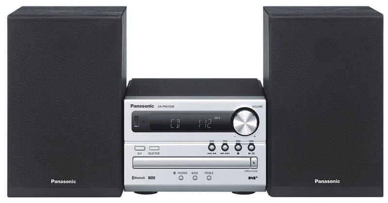 Panasonic SC-PM250BEG-S, stříbrná/černá