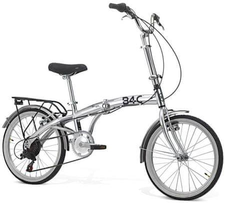 B4C zložljivo kolo Car Bike ALU Hi-Tension, 6 prestav, srebrn