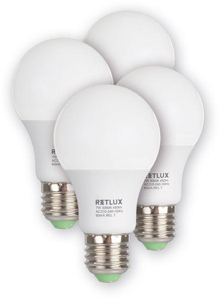Retlux LED žárovka REL 17 7W E27, 4 ks