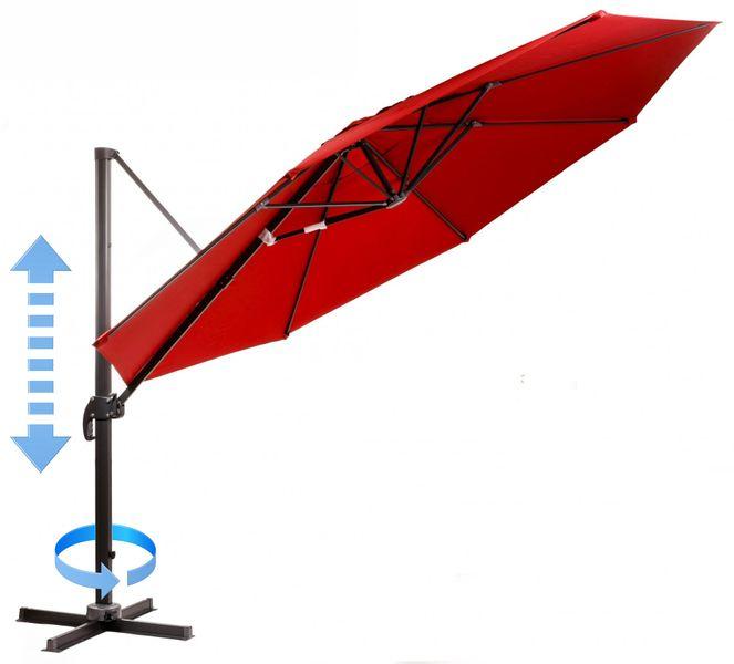 Myard Roma - boční slunečník 3,5 m, červený