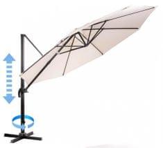 MAKERS Roma - boční slunečník 3,5 m, béžový