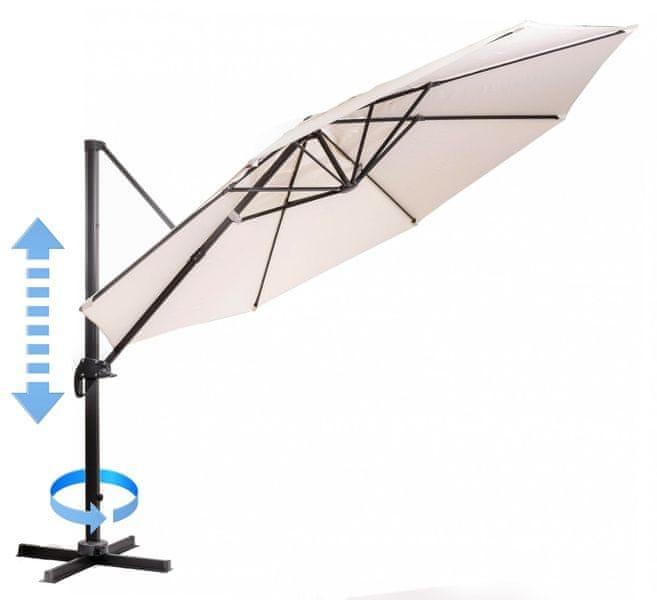 Myard Roma - boční slunečník 3,5 m, béžový