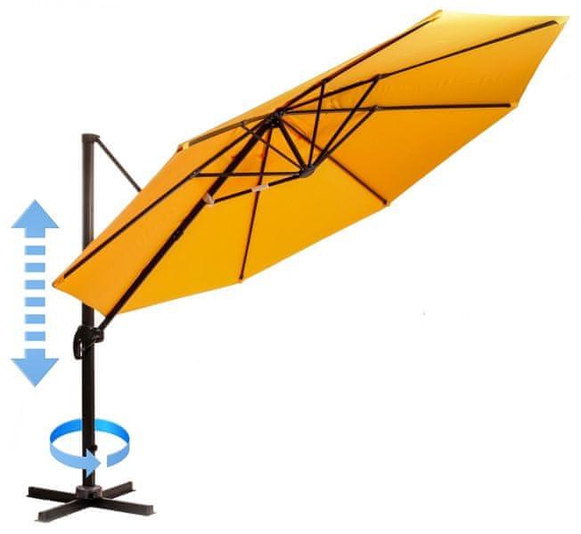 Myard Roma - boční slunečník 3,5 m, oranžový