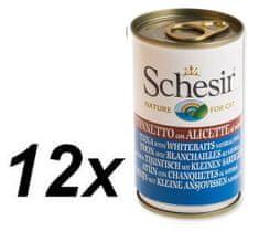 Schesir konzerva s tuno + slanik za mačke, 12 x 140 kg