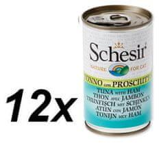 Schesir Konzerva Cat tuniak + šunka 12 x 140g
