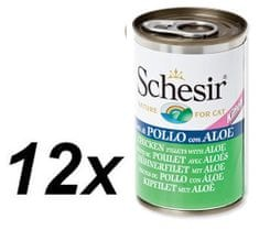 Schesir konzerva s piščancem + alojo, za mačke, 12 x 140 g