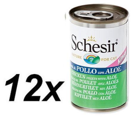 Schesir Kitten konzerv - csirke + aloe 12 x 140g