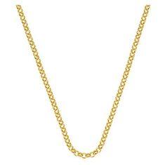 Hot Diamonds Strieborná retiazka Emozioni Yellow Gold Belcher Chain 18 CH010