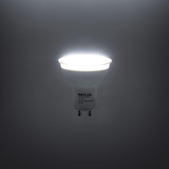 Retlux GU10 izzó 5W nappali fehér, 4 db
