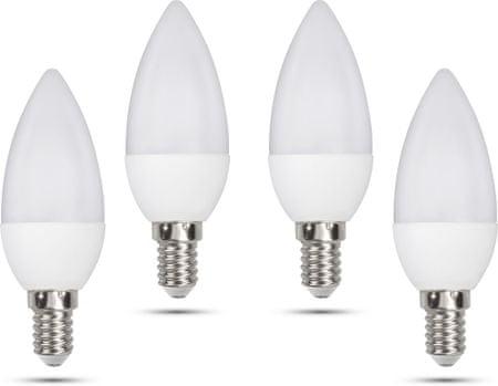 Retlux C35 E14 svíčka 5W denní bílá, 4 ks