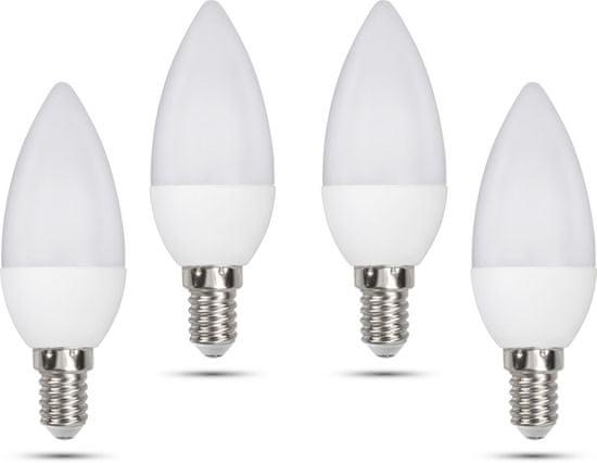Retlux C35 E14 świeczka 5W dzienna biała, 4 szt.