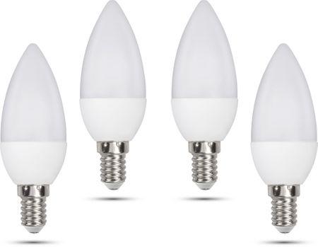 Retlux C35 E14 sviečka 5W studená biela, 4 ks