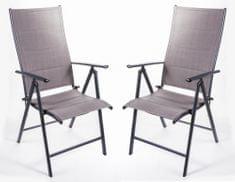Myard komplet stolov San Remo, 2 kosa, temno siva - Odprta embalaža
