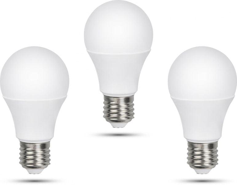 Retlux A60 E27 žárovka 12W studená bílá, 3 ks
