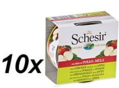 Schesir Konzerva Dog Fruit kuřecí + jablko 10 x 150 g