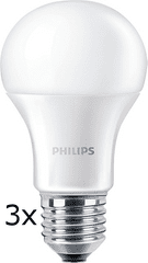 Philips CorePro Ledbulb 10-75W A60 E27 840 ND, 3 szt.