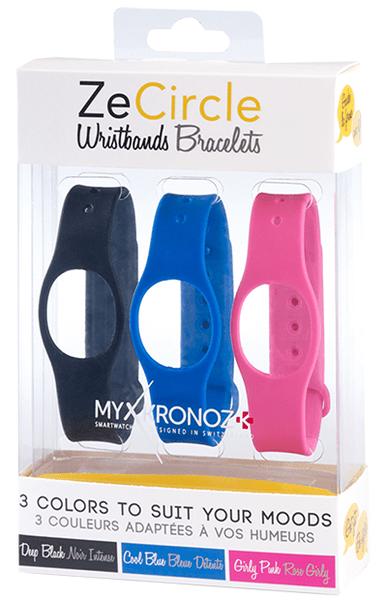 MyKronoz 3x pásky pro ZeCircle - růžová, modrá, černá