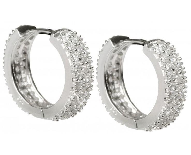 Beneto Třpytivé stříbrné kruhy AGU27