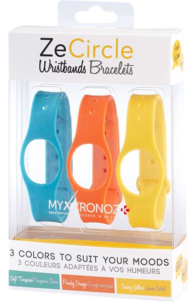 MyKronoz 3x pásky pro ZeCircle - modrá, oranžová, žlutá
