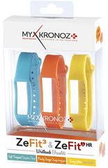 MyKronoz 3x pásky pre ZeFit3 a ZeFit3 HR - modrá, oranžová, žltá