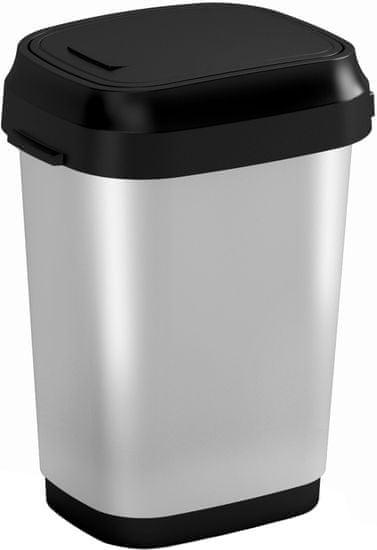 Kis koš za smeti Dual Swing Steel, 10 l - Odprta embalaža
