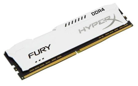 Kingston pomnilnik DDR4 DIMM HyperX FURY White 8 GB/2133MHz, CL14, 1Rx8, ((HX421C14FW2/8)