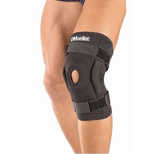 Mueller Hinged Wraparound Knee Brace - kolenní ortéza s kloubem - ovinovací (Odstín vel. XL)