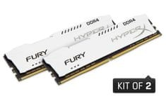 Kingston pomnilnik DDR4 DIMM HyperX FURY White 16 GB(2x8 GB)/2666MHz, CL16, 1Rx8 (HX426C16FW2K2/16)