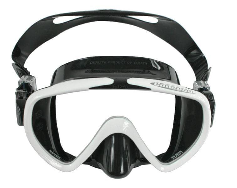 TUSA Maska CONCERO typ Frameless TUSA, černá/bílý rám