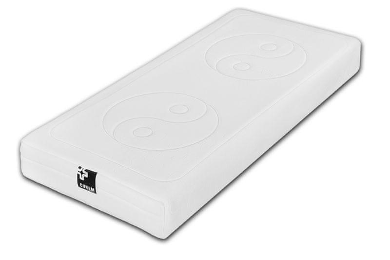 Curem C4000 White Hard + Matracový chránič CUREM - 90x200 cm