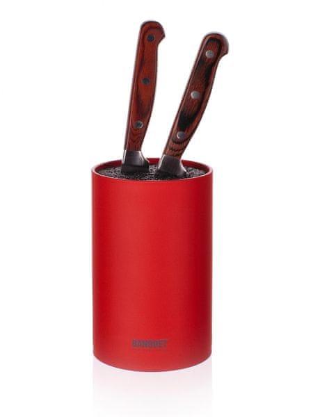 Banquet Stojan na nože CULINARIA Red 14 cm, se štětinami
