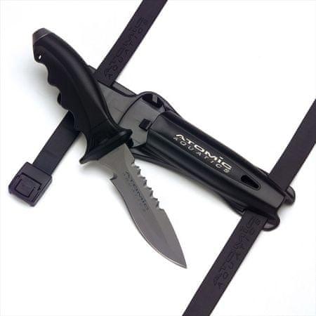 ATOMIC AQUATICS Nůž ATOMIC Ti 6, s hrotem