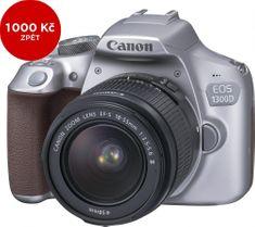 Canon EOS 1300D + 18-55 EF-S DC III Metallic Grey + 1000 Kč od Canonu zpět!