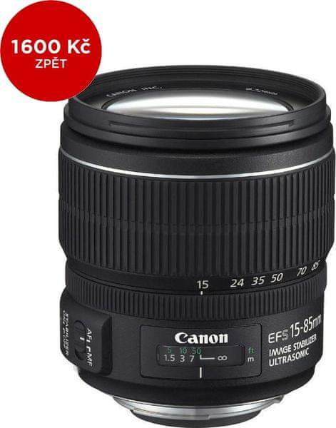 Canon EF-S 15-85 mm f/3,5-5.6 IS USM + 1600 Kč od Canonu zpět!