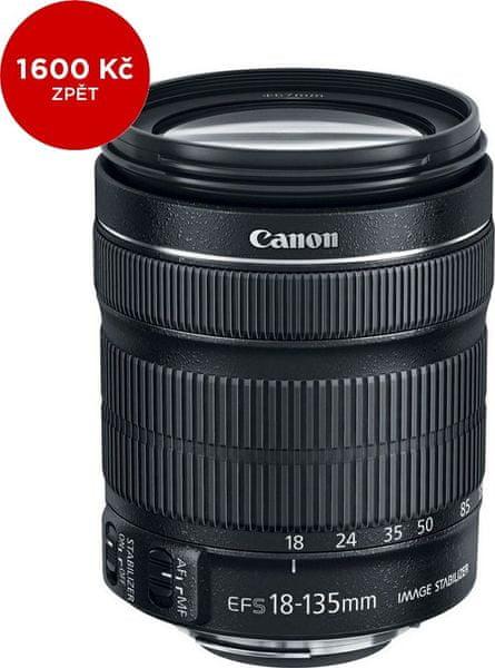 Canon 18-135 mm EF-S f/3,5-5.6 IS STM + 1600 Kč od Canonu zpět!