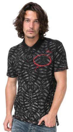 Desigual moška polo majica Juan Luis XXL črna