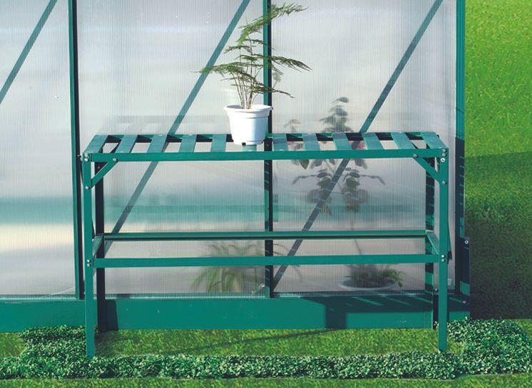 LanitPlast AL regál LANITPLAST 126x50 cm jednopolicový zelený